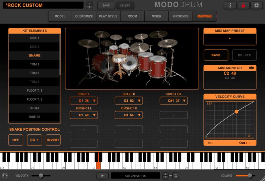 IK Multimedia MODO Drum Review - mapping