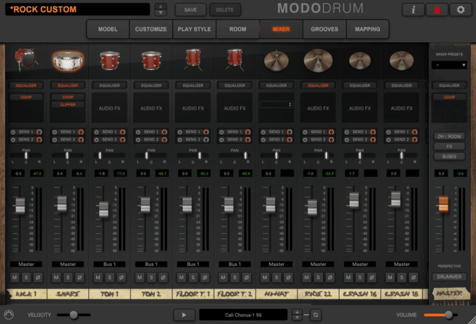 IK Multimedia MODO Drum Review - mixer