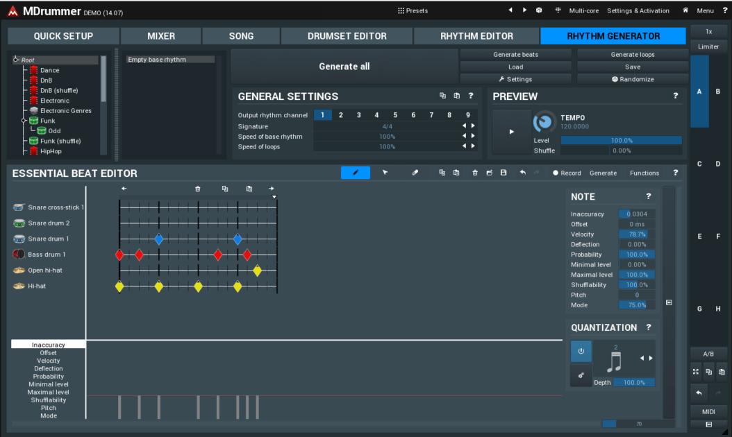 MeldaProduction MDrummer Review rhythm generator