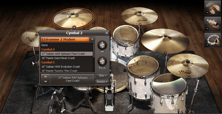 Toontrack EZdrummer 2 Review drum screen