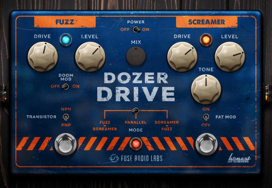Fuse Audio Labs Dozer Drive Review main plugin image